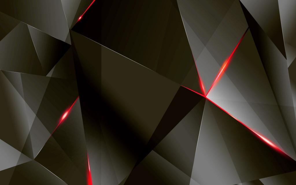 Темные векторные фигуры, обои черные минимализм, 1920 на 1200 пикселей