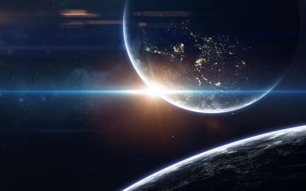 Огромные планеты во вселенной, обои на айфон xs космос, 1920 на 1200 пикселей