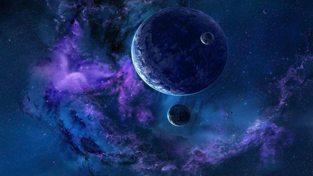 Планеты в тумане, космос, скачать обои на рабочий стол галактика, 1920 на 1080 пикселей