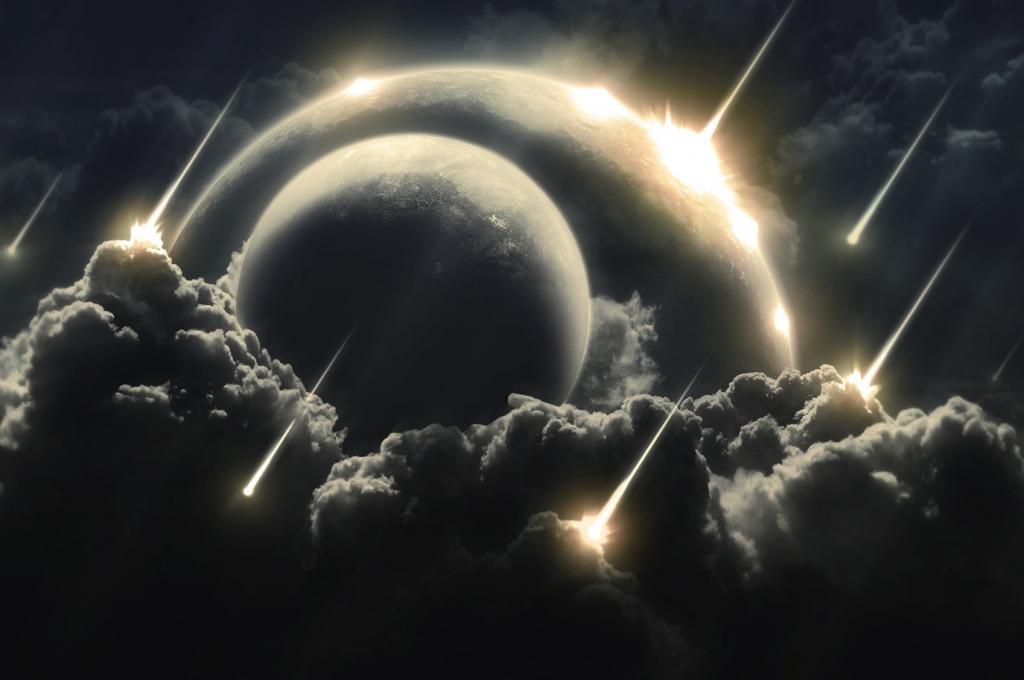 Метеоритный дождь, огненные метеориты, обои на айфон 7 космос, 1697 на 1128 пикселей