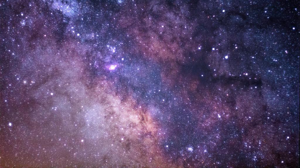 Млечный путь в космосе, скачать обои на стол галактика, 3840 на 2160 пикселей