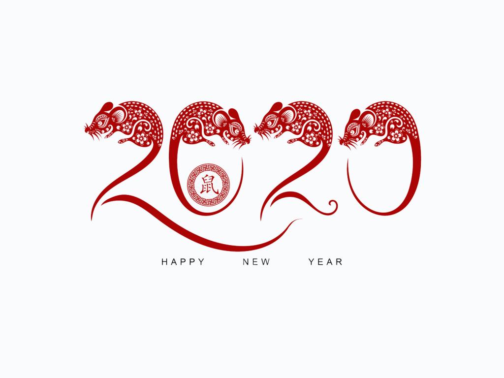 2020 год крысы, новогодние обои на айфон, 1600 на 1200 пикселей