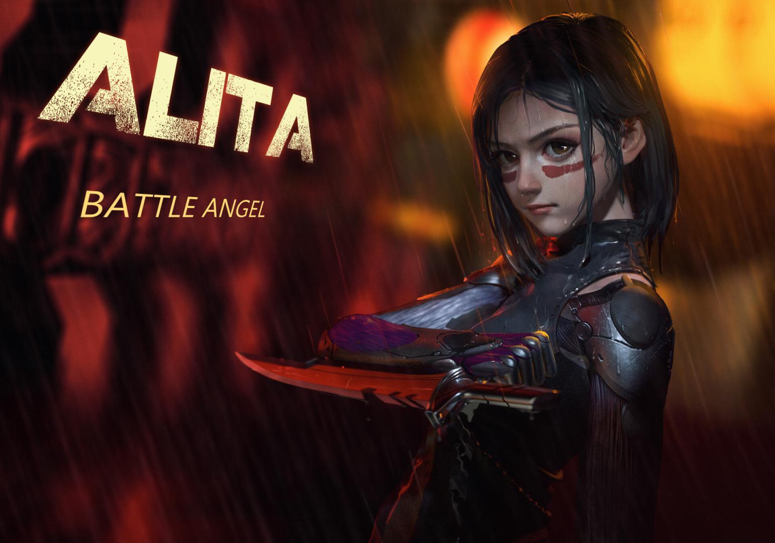 Алита боевой ангел обои на телефон, Alita Battle Angel, 1920 на 1344 пикселей