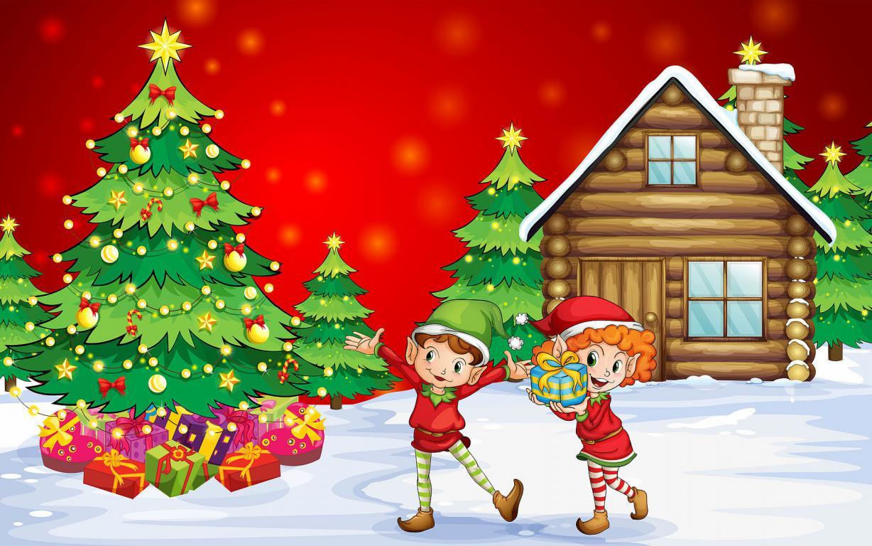 Обои зима Новый год Рождество, 1920 на 1200 пикселей