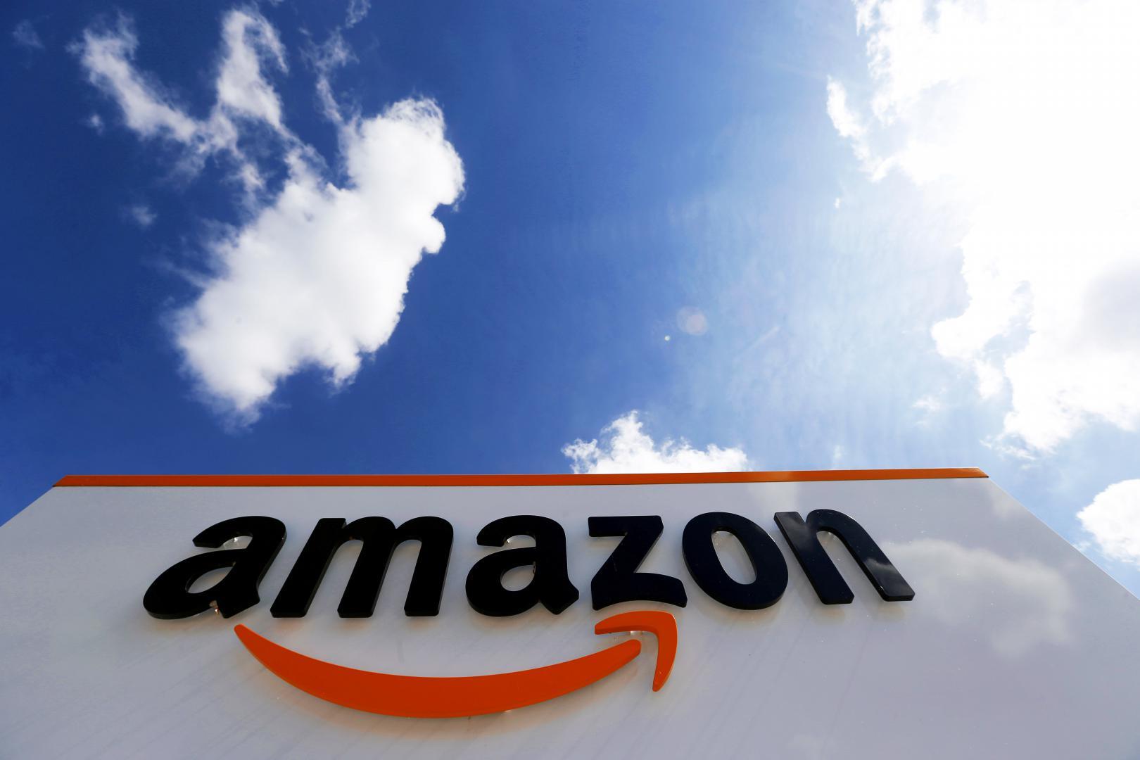Amazon logo, Амазон лого, обои на смартфон логотипы, 5184 на 3456 пикселей