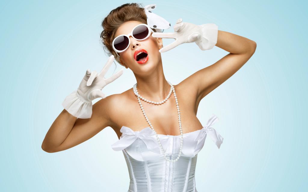Девушка наряжена в ретро стиле, hd обои смартфон девушка, 2560 на 1600 пикселей