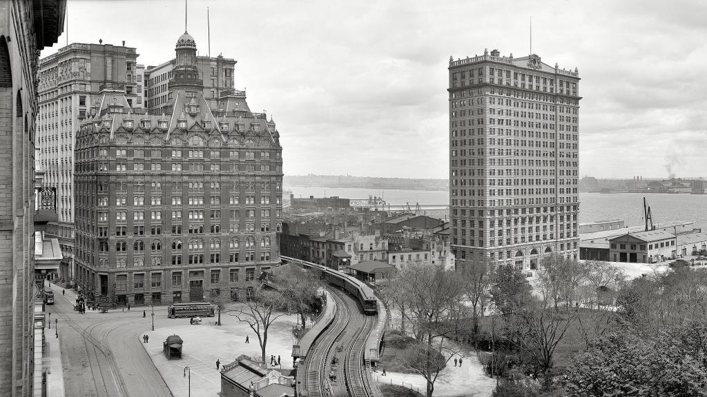 Город Нью-Йорк черно белые обои, 2560 на 1440 пикселей