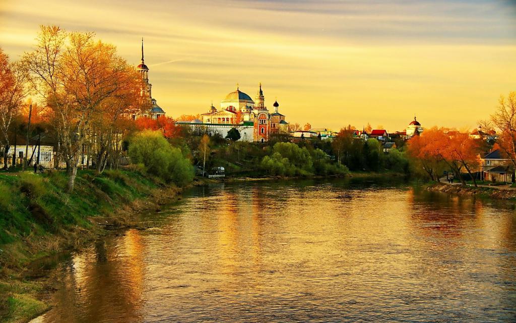 Россия город Торжок, тверская область, 4k ultra hd, 3840 на 2400 пикселей