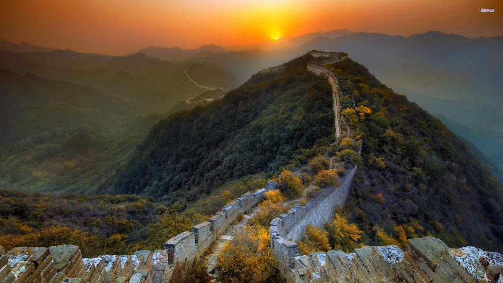 Китайская стена фотографии, Китай, China, 2560 на 1440 пикселей