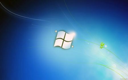 Windows 7, семерка в голубых тонах