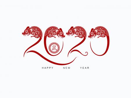 Обои на рабочий стол 1920х1080 новый год 2020 с крысами